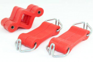 Exhaust Mounting 2 x strap + holder POLYURETHANE with hooks for Lada Niva 2121 and Lada 2101-07