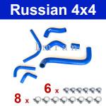 KIT: Kühlerschlauch + Schlauch für Wärmetauscher, Zylinderblock Lada 2101-2107, Polyurethan