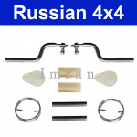 Repair kit for door lock: struts, cables, spring for the Lada Niva 2121 with Engine 1700ccm