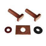Repair Kit Starter: copper bolt copper washer, copper plate for starter Lada 2101-2107, Lada Niva 2121