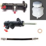 Kupplung Reparaturkit: Kupplungszylinder Nehmer + Geber + Kupplungsschlauch + Behälter 2101-2107