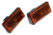 Standlicht/ Blinker vorne, Paar für Lada 21011, orange
