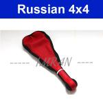 Schaltknauf Schaltknüppel Rot/ Schwarz Lederimmitat Lada 2101-2107, Niva