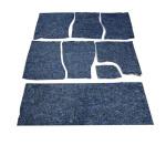 Bodendämmung Dach/ Boden/ Türen aus Filz gummiert Lada 2101-2107 + Lada Niva, 7- Teilig