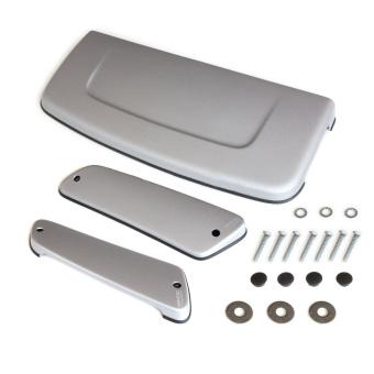 Hutze/ Abdeckung für Motorhaube + passende C-Säulenhutzen für Lada Niva 2121, Silbergrau