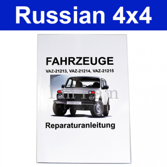 Reparaturanleitung für Lada Niva auf deutsch 2121, 21213, 21214, 21215