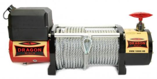 Seilwinde für Lada Niva DRAGON WINCH 12000HD, Zugkraft 5443 kg, mit Montageplatte und Zubehöhr mit  ABE