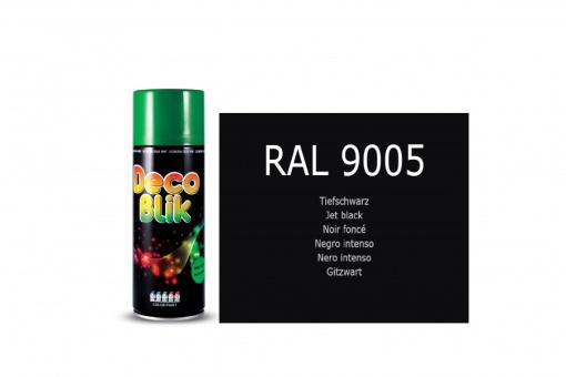 Sprühdose 400 ml Farbe, Autolack Schwarz Matt, Ral 9005