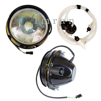Set: 2 x headlights and range control, adjustment Lada Niva 21213, 21214, Niva 1700ccm