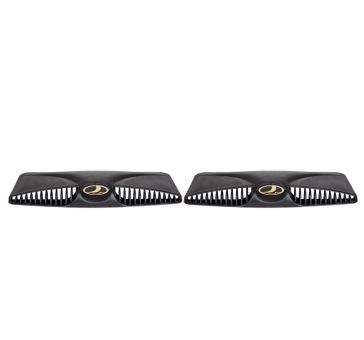 Hutze, Abdeckung Lüfteinläße für Motorhaube Lada 2101-2107, Paar, Gold-Logo