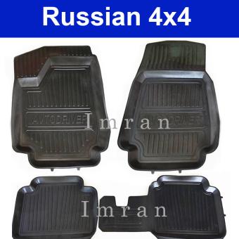 Gummimatten, Fußmatten mit hoher Kante für Lada Niva 2121, 21213, 21214