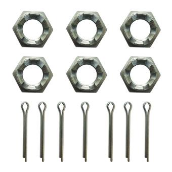 6 x Muttern und Stifte für Spurstange Lada 2101-2107, Niva 2121, 21214