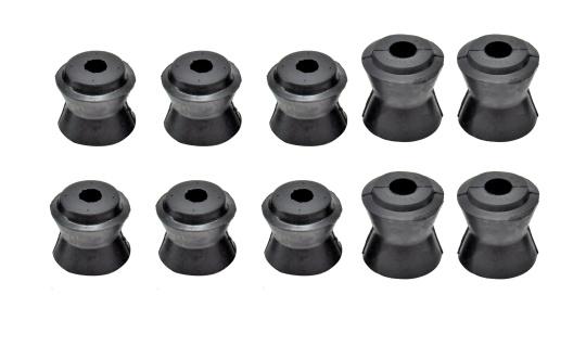 10 x Gummibuchse Buchse Lada 2101-07, konisch, 6-kleine + 4große