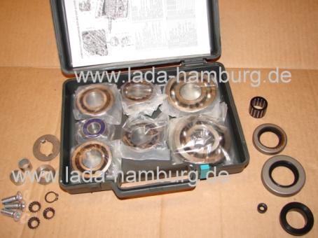 Reparatursatz Getriebe 4-Gang komplett Lada 2101-07, Niva 2121 Lager+buchsen+Simmerringe