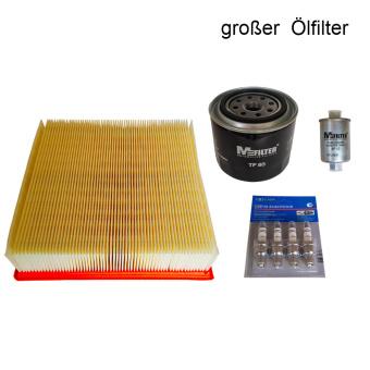 Service Kit, Servicekitt: Luftfilter, Benzinfilter, Ölfilter, Kerzen Lada Niva 21214 (Niva 1700ccm)