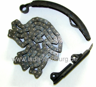 Timing chain 116 links, chain damper, chain slide, Lada 1500, 1600ccm