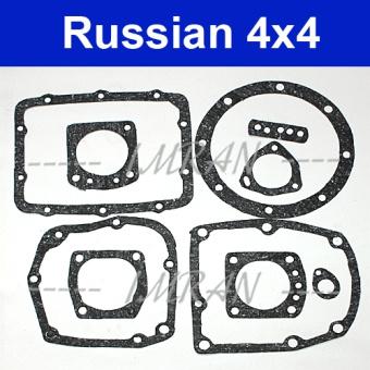 Dichtungssatz Schaltgetriebe, Diffrential Hinterachse 4-Gang Lada Niva 1600ccm, Lada 2101-07