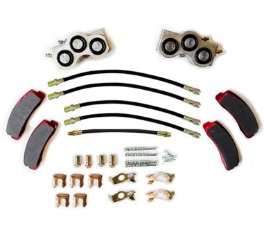 Bremse Reparaturkit: Bremsschlauch + Stifte +  Bremssattel + Bremsbeläge, Lada Niva nur vor Baujahr 2010