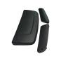 Hutze/ Abdeckung für Motorhaube + passende C-Säulenhutzen für Lada Niva 2121, in schwarz