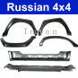 Wheel arch extensions and sill panels for Lada Niva 2121, 21213, 21214, 21215