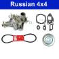 Reparaturkit für Wasserpumpe und Pumpenantrieb Lada Niva 1700 (Einspritzer)